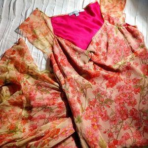 Fiori di Zucca silk floral maxi dress